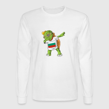 Bulgaria Dabbing Turtle - Men's Long Sleeve T-Shirt