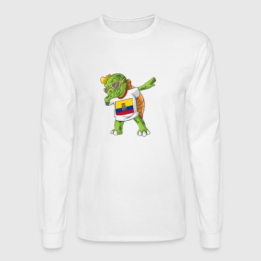 Ecuador Dabbing Turtle - Men's Long Sleeve T-Shirt