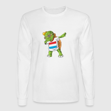 Luxembourg Dabbing Turtle - Men's Long Sleeve T-Shirt