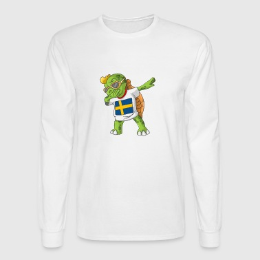 Sweden Dabbing Turtle - Men's Long Sleeve T-Shirt