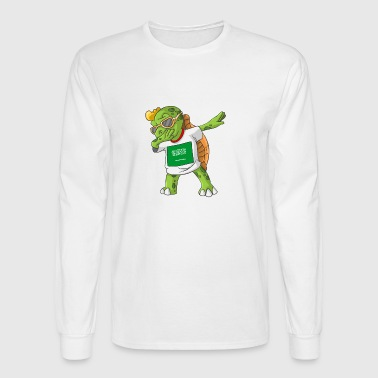 Saudi Arabia Dabbing Turtle - Men's Long Sleeve T-Shirt