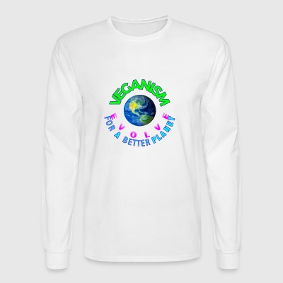 VEGANISM FOR A BETTER PLANET - Men's Long Sleeve T-Shirt