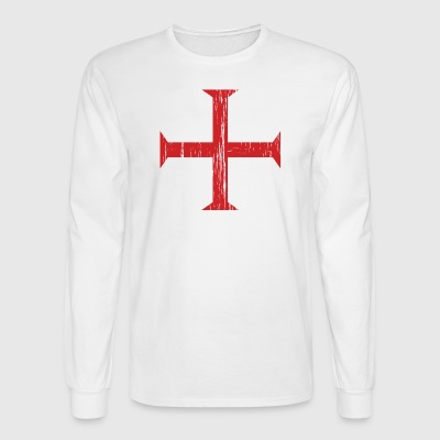 Knights Templar Crusader Cross - Men's Long Sleeve T-Shirt