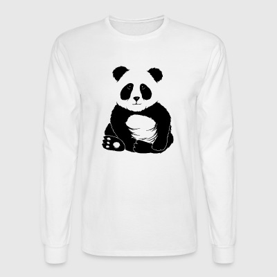 little cool casual chilling panda bear cute gift - Men's Long Sleeve T-Shirt