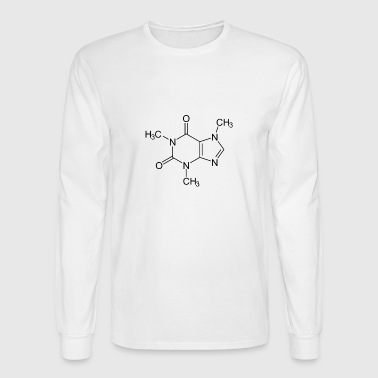 Caffeine Chemical Compound Structure T shirt - Men's Long Sleeve T-Shirt