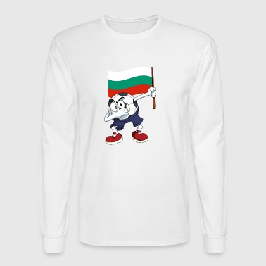 Bulgaria Dabbing Soccer Ball - Men's Long Sleeve T-Shirt