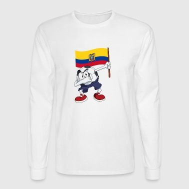 Ecuador Dabbing Soccer Ball - Men's Long Sleeve T-Shirt