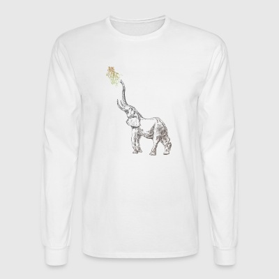 Elephant animal sketch wildlife vector image funny - Men's Long Sleeve T-Shirt