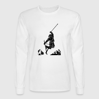 Skiers on the ski slopes in a sporty and fast way - Men's Long Sleeve T-Shirt