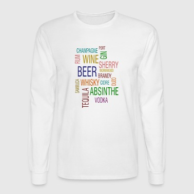 beer wine gin tequila alcohol gift idea present - Men's Long Sleeve T-Shirt