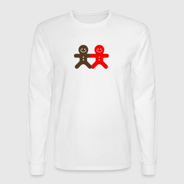 Small Ginger Bread Man funny tshirt - Men's Long Sleeve T-Shirt