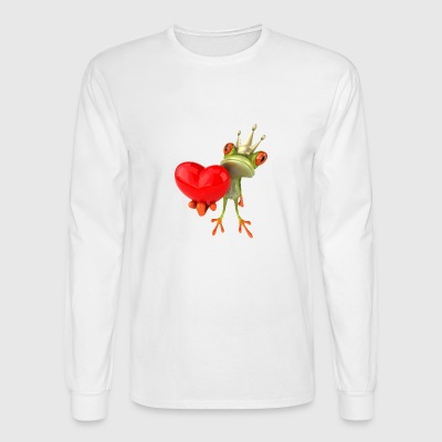 Amphibian, frog, heart, king - Men's Long Sleeve T-Shirt
