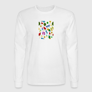 summer pattern background - Men's Long Sleeve T-Shirt
