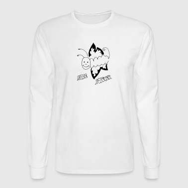 Caterpillar to Butterfly: Free forever - Men's Long Sleeve T-Shirt