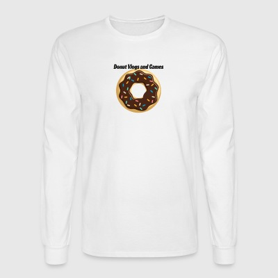 Donut Vlogs and Games - Men's Long Sleeve T-Shirt