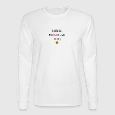 I am falling into heart eyes EMOJl - Men's Long Sleeve T-Shirt