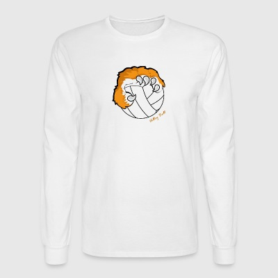 volley ball with Tiger claw - Men's Long Sleeve T-Shirt