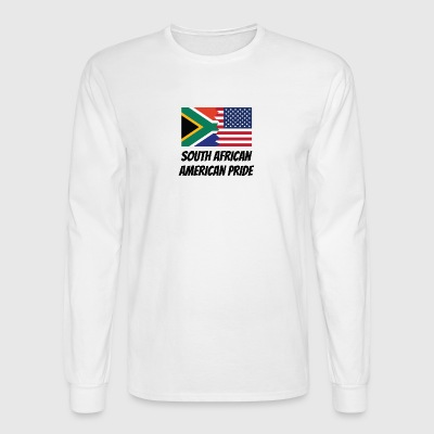 South African American Pride - Men's Long Sleeve T-Shirt
