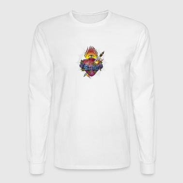 Flaming Heart - Men's Long Sleeve T-Shirt