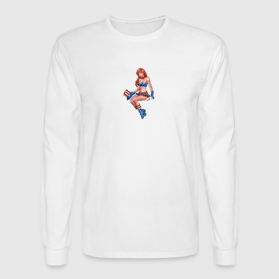 Redhead Pinup Girl - Men's Long Sleeve T-Shirt