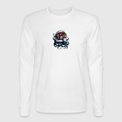 Space Bloom, Space Flower Bloom - Men's Long Sleeve T-Shirt