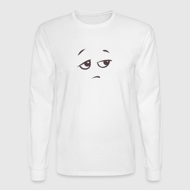 Bored face emotion - Men's Long Sleeve T-Shirt