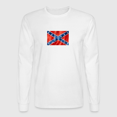 01 confederate flag facts - Men's Long Sleeve T-Shirt