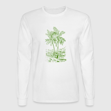palm coconut kokosnuss palme veggie gemuese fruits - Men's Long Sleeve T-Shirt