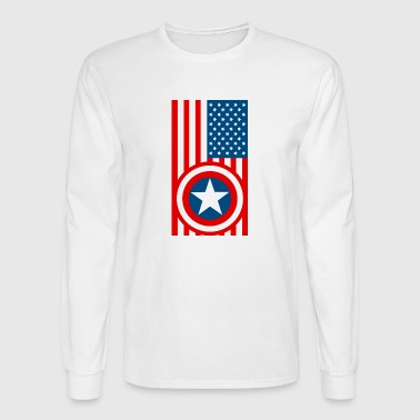 Shield With USA Flag - Men's Long Sleeve T-Shirt