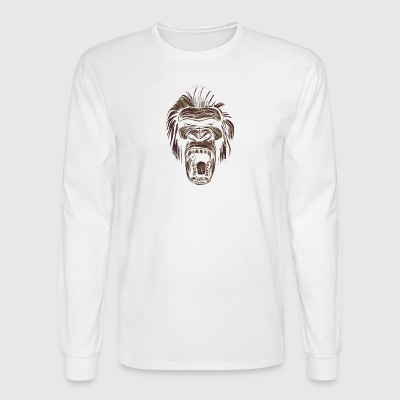 ape face - Men's Long Sleeve T-Shirt