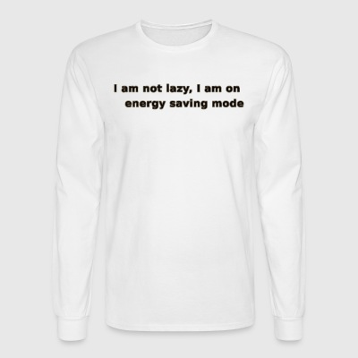 Funny Lazy T-shirt/Longsleeve - Men's Long Sleeve T-Shirt