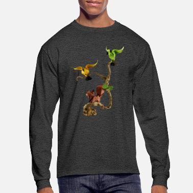 Fold Springtime Origami - Men's Long Sleeve T-Shirt