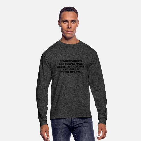 People Long-Sleeve Shirts - Grandparents are people with silver in thier hair - Men's Longsleeve Shirt heather black