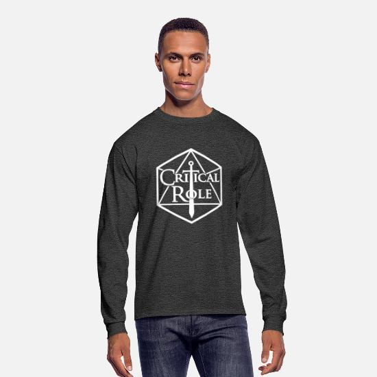 Critical Long-Sleeve Shirts - Critical Role - Men's Longsleeve Shirt heather black