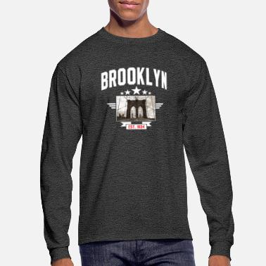 Brooklyn Bridge Brooklyn bridge pride Brooklyn est. 1634 New York t-shirt - Men's Long Sleeve T-Shirt