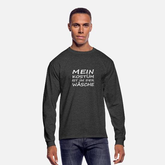 Gift Idea Long-Sleeve Shirts - My costume is in the wash - Men's Longsleeve Shirt heather black