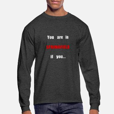 Springfield Springfield, MA - Men's Long Sleeve T-Shirt