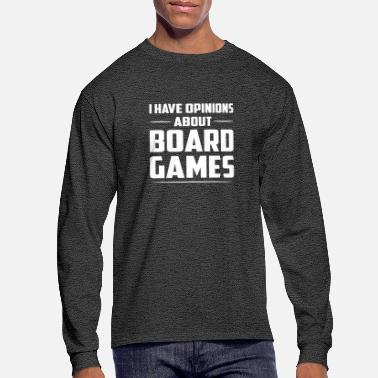Board Game I Have Opinions About Board Games Gift - Men's Long Sleeve T-Shirt