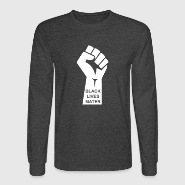 Black Lives Matter T-shirt - Civil Rights Raised - Men's Long Sleeve T-Shirt