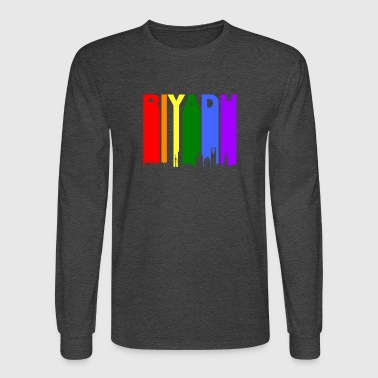 Riyadh Skyline Rainbow LGBT Gay Pride - Men's Long Sleeve T-Shirt