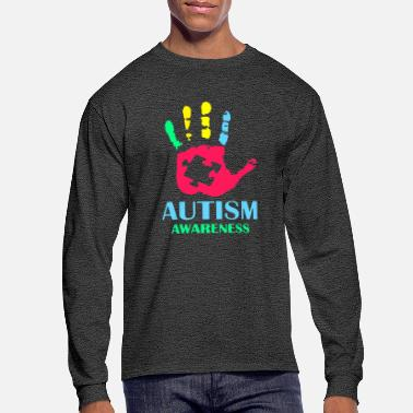Autism Awareness autism34 Awareness - Men's Long Sleeve T-Shirt