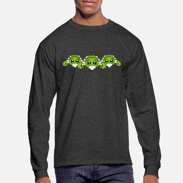 Cutting Crew siblings 3 friends team crew baby child turtle cut - Men's Longsleeve Shirt