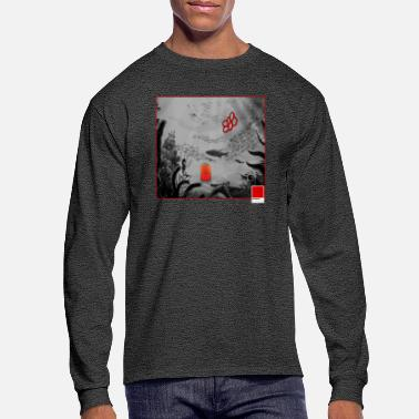 Pop Art CORAL RED - full white by COLORBLIND WorldView - Men's Longsleeve Shirt
