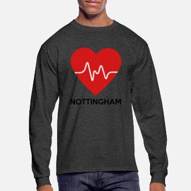 Nottingham Heart Nottingham - Men's Longsleeve Shirt