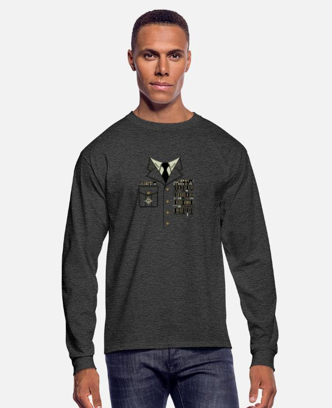 Movie Long-Sleeved Shirts - Console General - Men's Longsleeve Shirt heather black