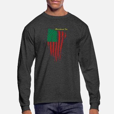 Red Black And Green African American - Men's Longsleeve Shirt