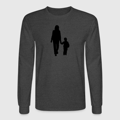 mother and son silhouettes 2 - Men's Long Sleeve T-Shirt