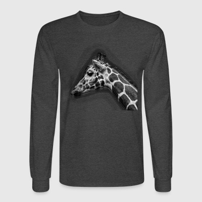 Giraffe Drawing - Men's Long Sleeve T-Shirt