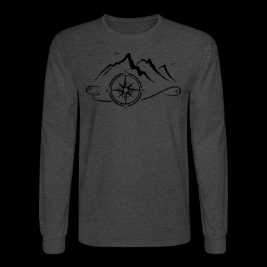 Mountains with compass - Men's Long Sleeve T-Shirt