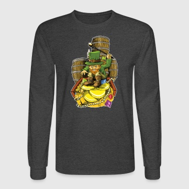 Angry Irish Leprechaun - Men's Long Sleeve T-Shirt